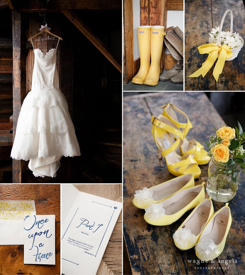 Wedding details at Riverside Farm Vermont