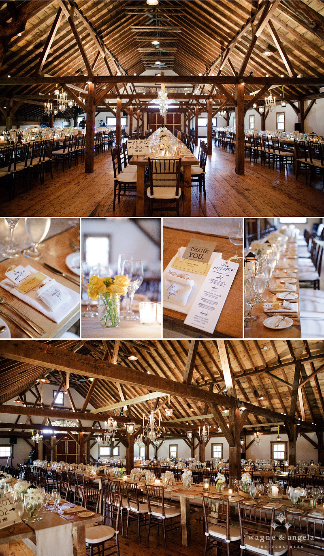 Wedding in the barn at Riverside Farm