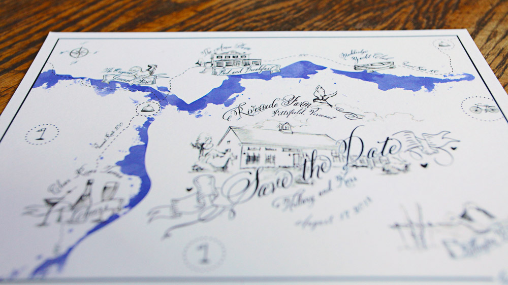 photo by Cronin Hill - custom save the date map, LOVE this!