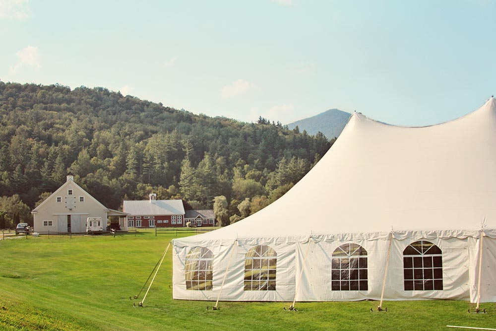 Getting ready for the wedding at Riverside Farm, Vermont