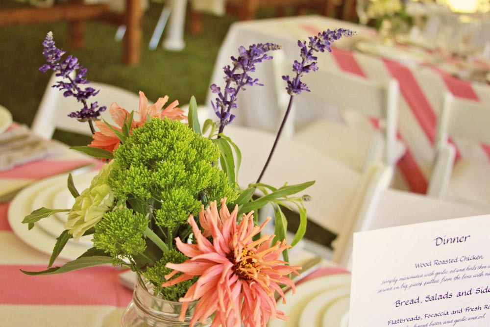 Riverside Farm Vermont - Wedding Details - the tables