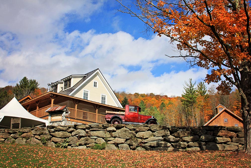 Amee Farm Lodge Fall Vermont Wedding