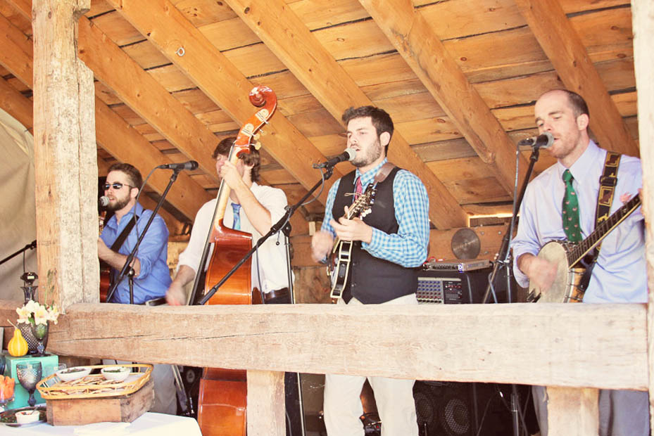 Real Vermont Wedding Details - The band at Amee Farm Barn