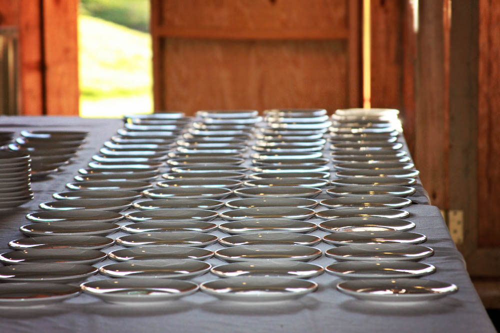 Riverside Farm Vermont - Behind the scenes - Ready to serve dinner