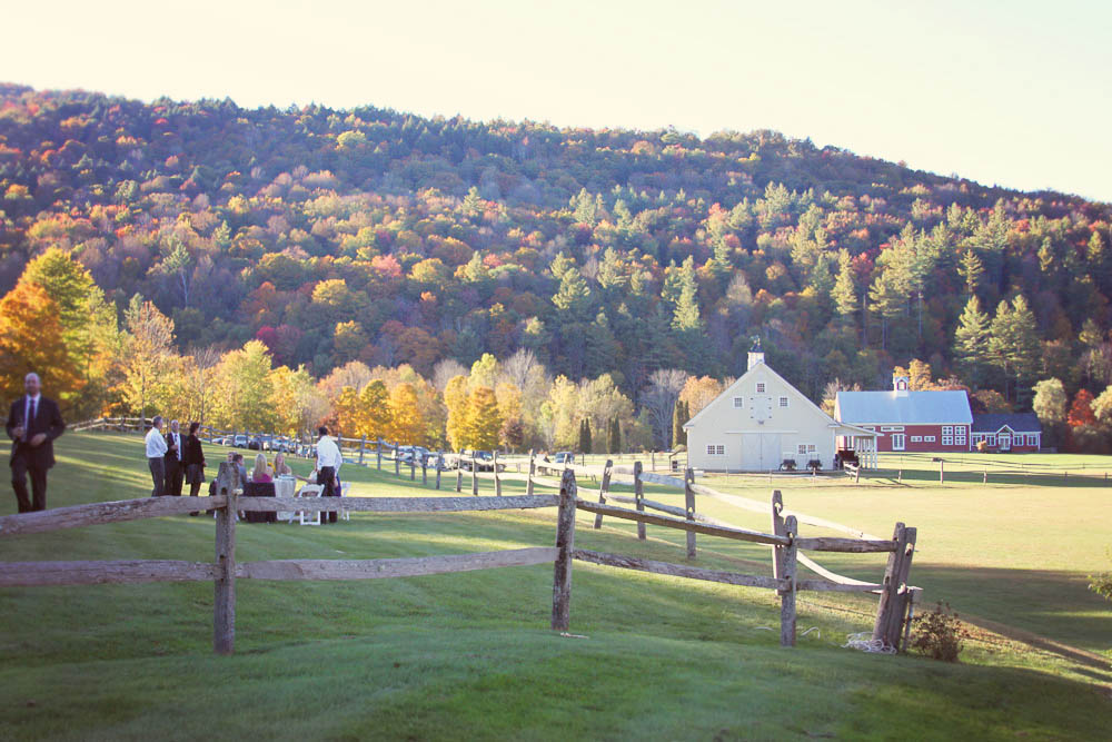 Riverside Farm Vermont - Guests enjoy the scenery at cocktail hour