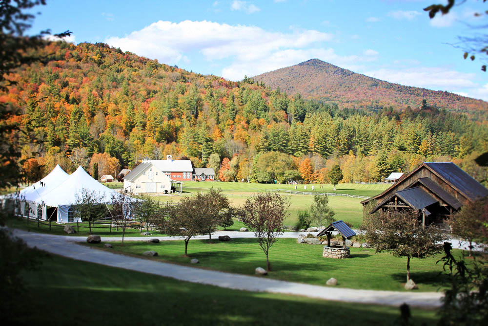 Riverside Farm Vermont - view of the farm in fall