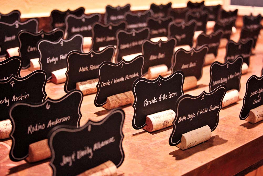 Riverside Farm Wedding Details - placecards