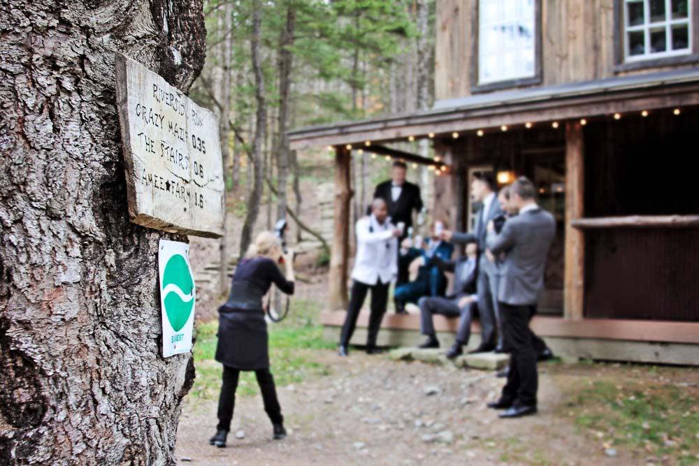 Riverside Farm Groom's Cabin - Photographer Romana Vysatova at work