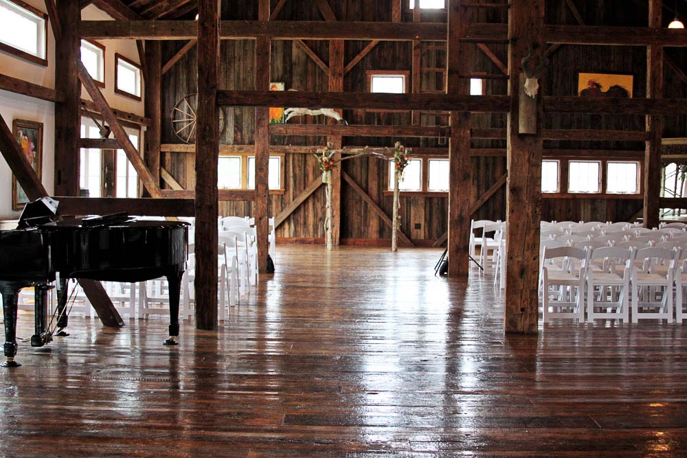 Riverside Farm, Vermont - Wedding Ceremony in the Red Barn