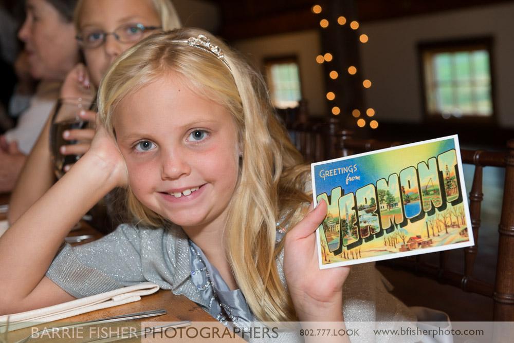 Antique Postcard Wedding Place Card
