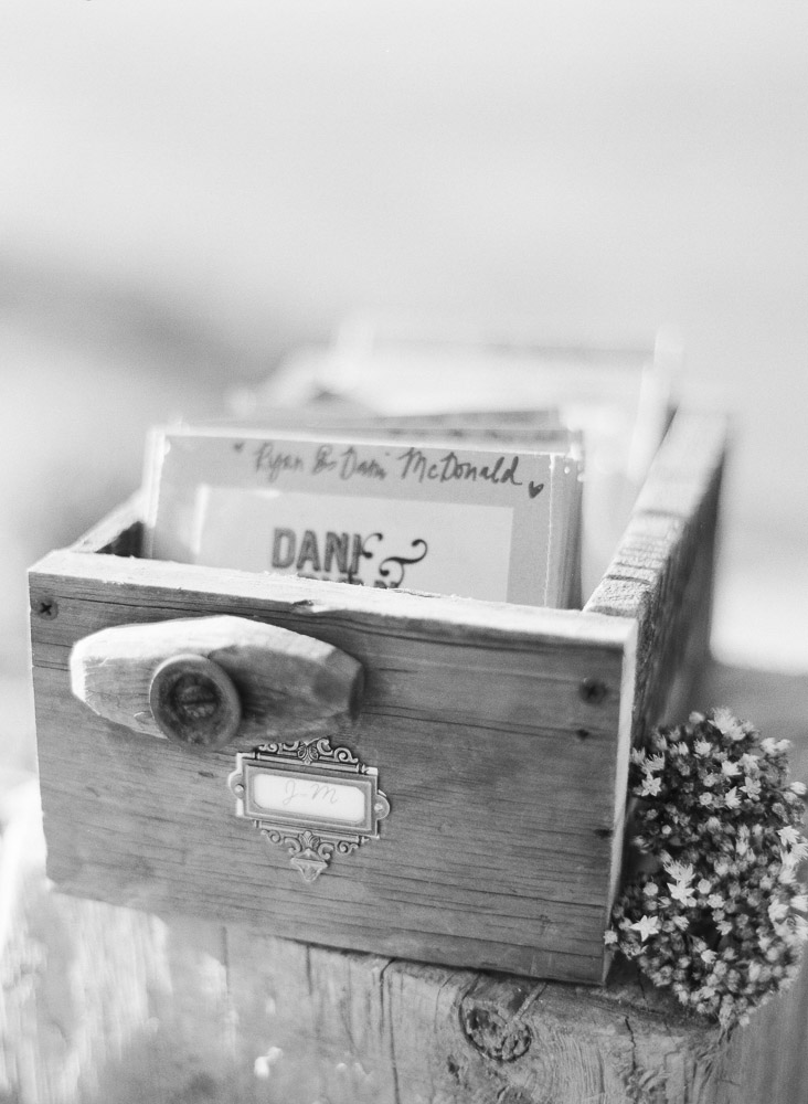 Card catalog wedding place cards