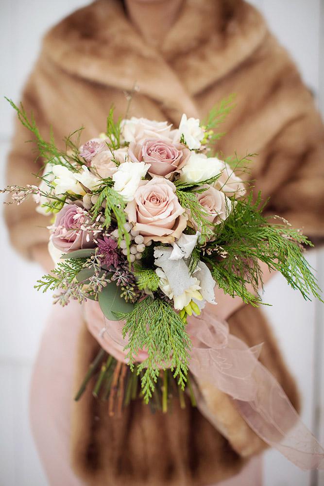 A Vermont Winter Wedding Wonderland -  Winter Bouquet