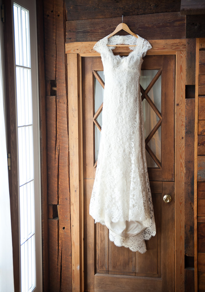 A Vermont Winter Wedding Wonderland -  Wedding Dress