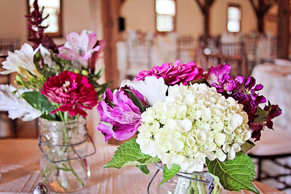 Centerpieces & for the Decorations for the wedding reception barn