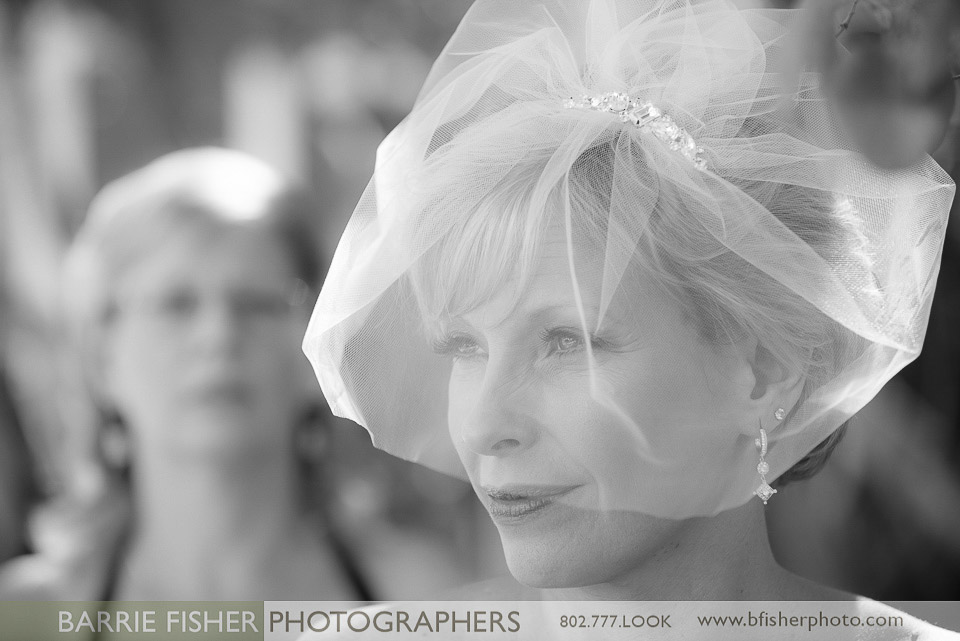 Classic Vermont Wedding Bride B+W images