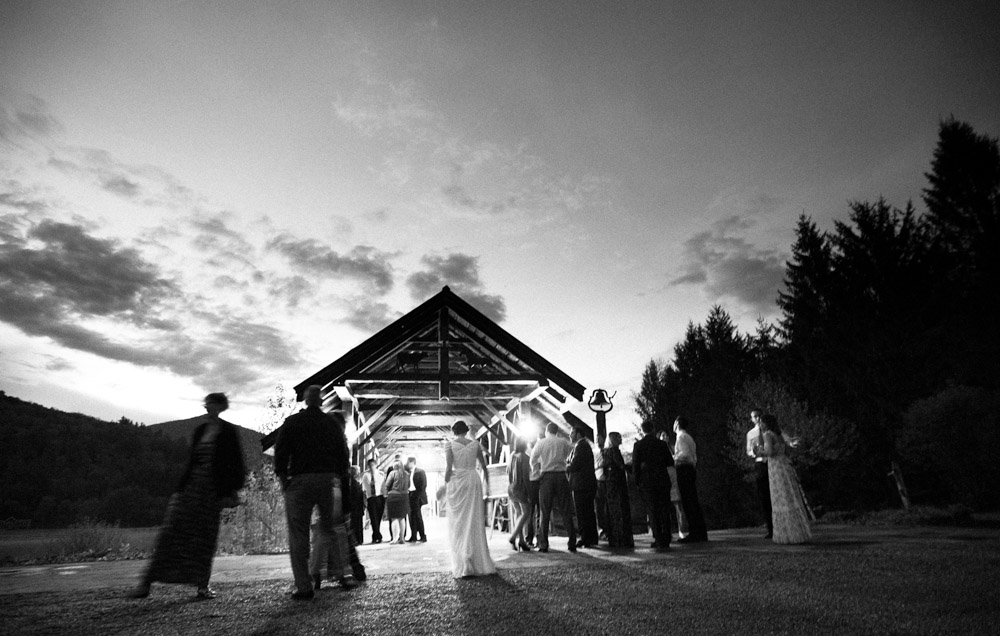 Riverside Farm Vermont Wedding Venue - good night from the Brown Barn