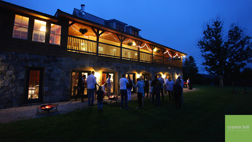 Vermont Wedding Venue - Evening at Amee Farm Lodge