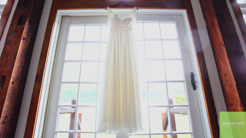 Riverside Farm Vermont Wedding Venue - the dress