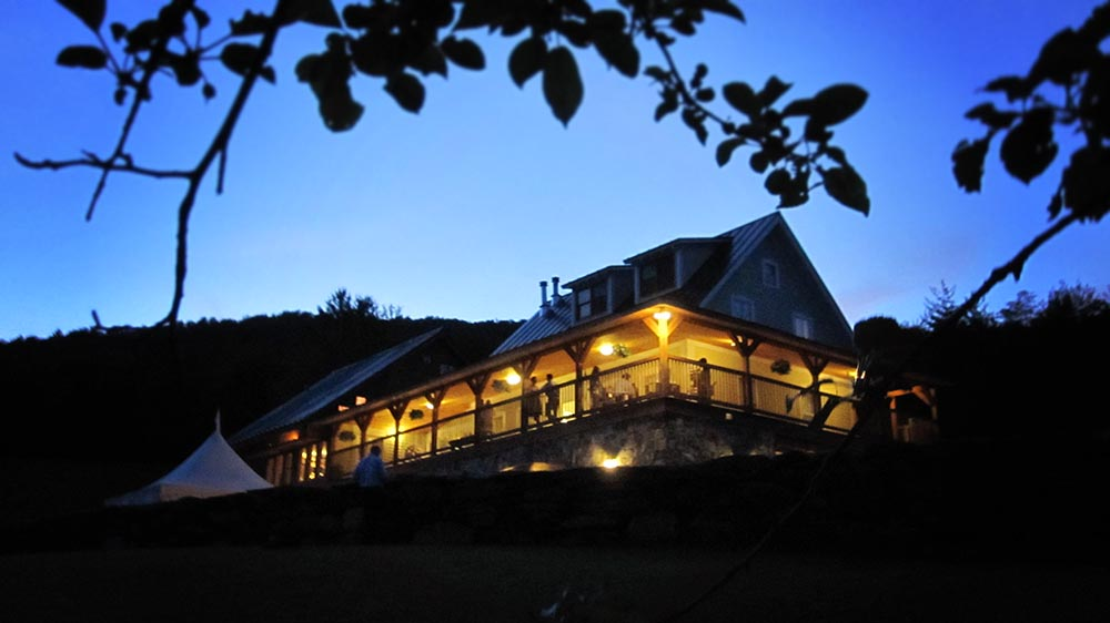 Amee Farm Vermont Wedding Venue - evening with friends