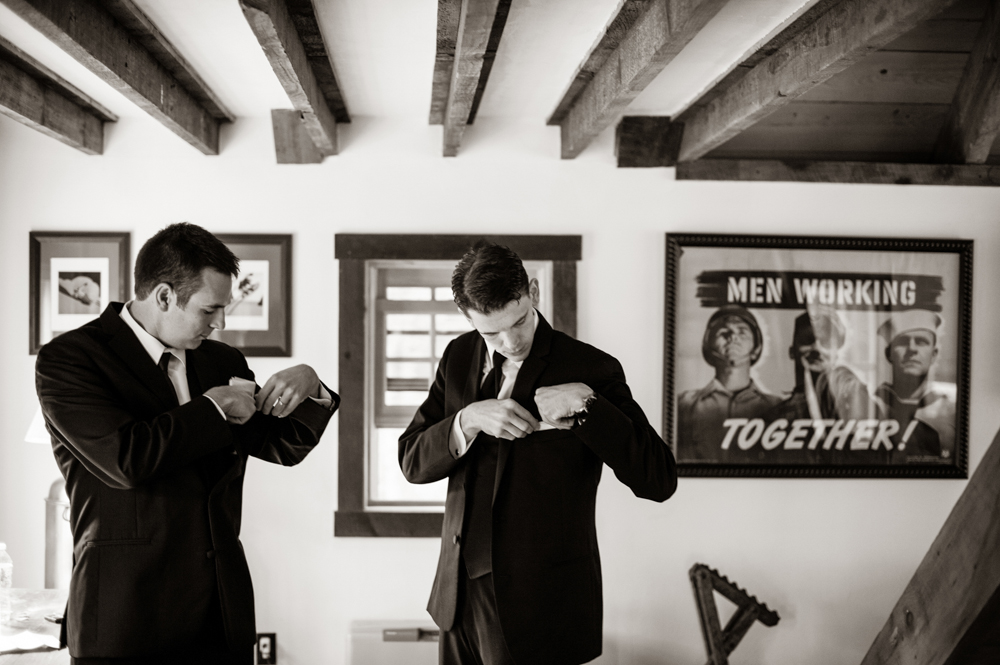 Our wedding venue doesn't overlook the guys - photo Melissa Mullen