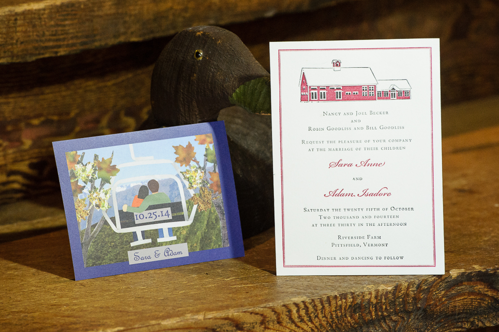 some of our favorite riverside farm wedding invitations - vermont, Wedding invitations
