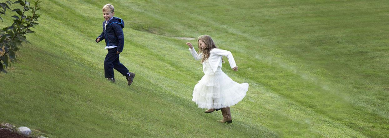 Kids at Riverside Farm Wedding